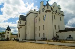 Blair castle and forecourt. Blair castle Stock Photos