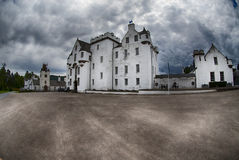 Blair castle. An overcast day in Scotland Royalty Free Stock Photo