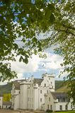 Blair castle under the trees. Blair castle Royalty Free Stock Photo