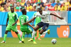 Blaise Matuidi and John Obi Mikel Coupe du monde 2014 Stock Photography