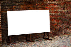 Blak bigboard with clipping path. White bigboard with clipping path royalty free stock image