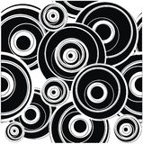 Blak circle pattern Stock Photography
