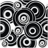 Blak circle pattern. Closeup circle pattern in black and white Stock Photography