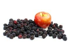 Blakberries en appel Royalty-vrije Stock Afbeeldingen