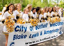 Blake Lewis Cheerleader Group Stock Image