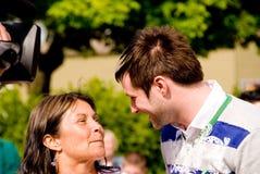 Blake Lewis con la sua mamma Immagini Stock