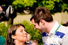 Blake Lewis con su mama Imagenes de archivo