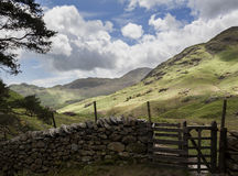 Blake Rigg and Tilberthwaite Fells Royalty Free Stock Images