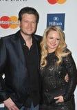 Blake Shelton, Miranda Lamberto fotos de stock royalty free