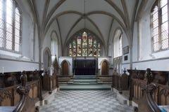 Blakeney, Norfolk, UK - December 2016, Chancel of Saint Nicholas stock photos