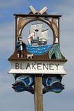 Blakeney Village Sign stock images