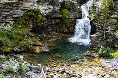 Blakiston Falls in southern Alberta stock images