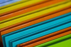 Blaknoty цвета штабелированное вверх по большому Стоковое Изображение
