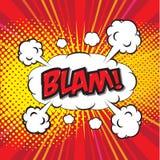 BLAM! κωμική λέξη Στοκ φωτογραφία με δικαίωμα ελεύθερης χρήσης