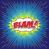 BLAM! κωμική λέξη Στοκ Εικόνες