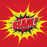 BLAM! κωμική λέξη ελεύθερη απεικόνιση δικαιώματος