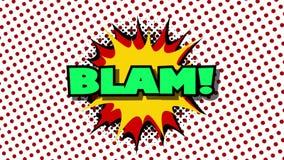 BLAM -词演说序幕可笑的样式动画