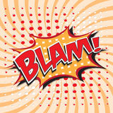 BLAM! comic word. Stock Image