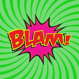BLAM! comic wording Stock Photo