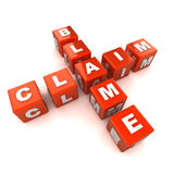 Blame Claim Crossword Concept. A Colourful 3d Rendered Blame / Claim Concept Illustration Royalty Free Stock Images