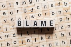 Blame word concept royalty free stock image