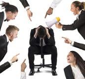 Blame at work Stock Image