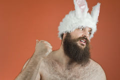 Blaming Bunny Man Stock Photos