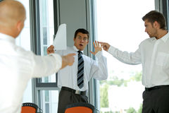 Blaming colleague failure concept Stock Photos