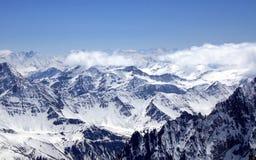 blanc欧洲最高的mont山 库存图片