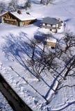 blanc瑞士山中的牧人小屋mont 免版税库存照片