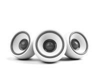 blanc élégant sonore de système Photos libres de droits