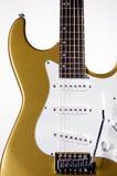 blanc électrique de guitare d'or Images libres de droits