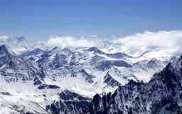 blanc υψηλότερο βουνό mont της Ε&ups Στοκ Εικόνα