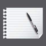 Blanc abstrait de liste avec le crayon lecteur   Photographie stock libre de droits