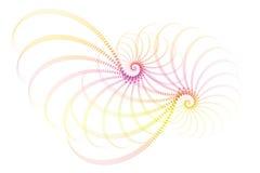 blanc abstrait de rose de fractale de conception illustration stock