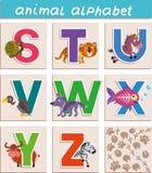 blanc animal de vecteur de fonds d'image d'alphabet illustration libre de droits