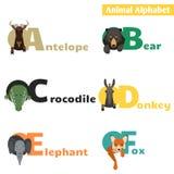 blanc animal de vecteur de fonds d'image d'alphabet Ensemble 1 Image libre de droits