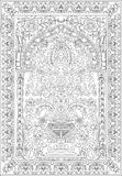 Blanc arabe de noir de fleur de fresca de tuile Photos libres de droits