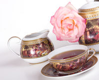 blanc assaisonné de thé de porcelaine Image stock