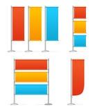 Blanc Banner Flag Mockups Color. Vector royalty free illustration