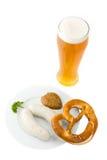 blanc bavarois de saucisse images stock
