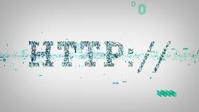 Blanc binaire de HTTP de mots-clés illustration stock