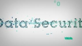 Blanc binaire de protection des données de mots-clés illustration de vecteur
