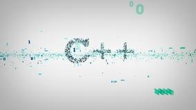 Blanc binaire des mots-clés C++ clips vidéos