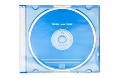 Blanc bleu cd-RW Images libres de droits