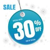 Blanc bleu de bannière de vente d'hiver conception d'affiche réglée avec le texte de vente Photos stock