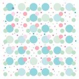 Blanc bleu de rose de modèle de fond de papier peint de points Photographie stock libre de droits