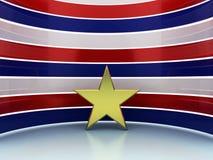 Blanc bleu rouge d'étoile d'or Image libre de droits