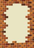 Blanc brun grunge de mur de briques illustration de vecteur