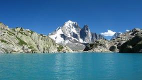 blanc Chamonix France lac Zdjęcia Stock
